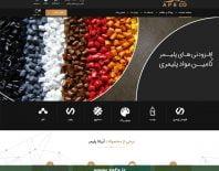طراحی وبسایت شرکت آریانا پلیمر