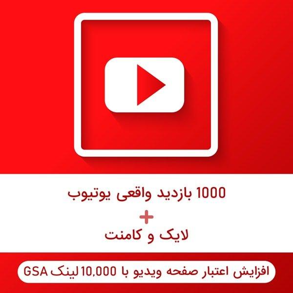 ارائه ۱۰۰۰ بازدید واقعی برای ویدئوی یوتیوب