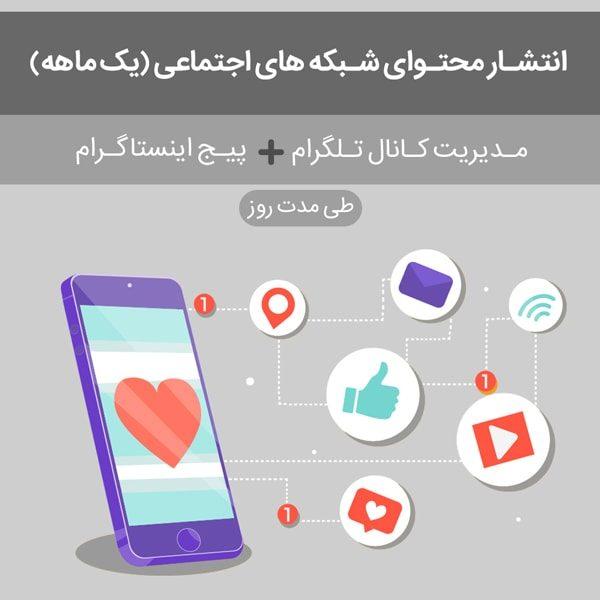 ادمین کانال تلگرام + مدیریت پیج اینستاگرام