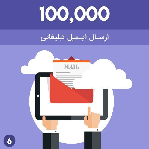 ارسال 100000 ایمیل فعال تبلیغاتی