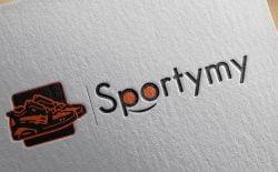 طراحی لوگوی فروشگاه اینترنتی اسپورتی مای