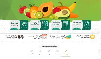 طراحی وبسایت فروشگاهی میوه لند