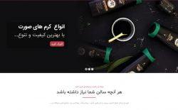 طراحی وبسایت بارناز شاپ