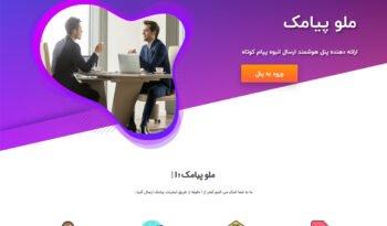 طراحی وبسایت ملو پیامک